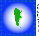 map of argentina | Shutterstock .eps vector #755016724