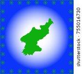 map of north korea | Shutterstock .eps vector #755016730