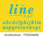 vector of modern stylized font...   Shutterstock .eps vector #755020600