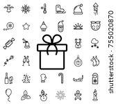 gift. winter  celebration ... | Shutterstock .eps vector #755020870