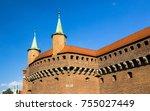 partial view of the krakow... | Shutterstock . vector #755027449