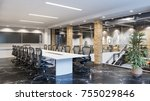 modern meeting room in office... | Shutterstock . vector #755029846