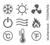 set of conditioning icons.... | Shutterstock .eps vector #755039656