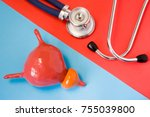 design concept of diagnosis and ... | Shutterstock . vector #755039800