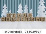 the word christmas spelled out... | Shutterstock . vector #755039914