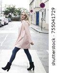 street fashion concept.... | Shutterstock . vector #755041729