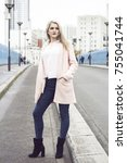 street fashion concept.... | Shutterstock . vector #755041744
