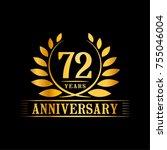 72 years anniversary logo... | Shutterstock .eps vector #755046004