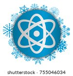 science christmas icon | Shutterstock .eps vector #755046034