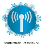 wifi christmas icon | Shutterstock .eps vector #755046073
