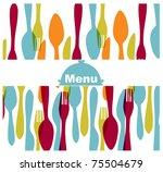 restaurant menu card | Shutterstock .eps vector #75504679