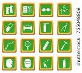 welding icons set in green...   Shutterstock . vector #755048806