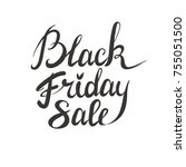 printblack friday sale  ... | Shutterstock .eps vector #755051500