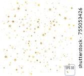 gold stars. confetti...   Shutterstock .eps vector #755053426