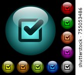 checkbox icons in color... | Shutterstock .eps vector #755053486