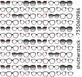 seamless pattern of spectacle... | Shutterstock .eps vector #755060986