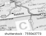 Small photo of Babbitt. Canada on a map.