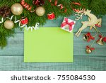 christmas letter  list ... | Shutterstock . vector #755084530