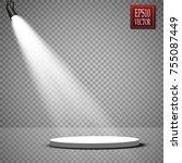 vector floodlights. scene.... | Shutterstock .eps vector #755087449