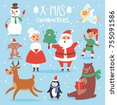 christmas vector characters...