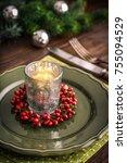 Christmas Table Setting With...