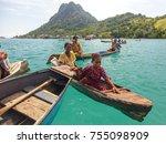 semporna sabah  malaysia circa... | Shutterstock . vector #755098909
