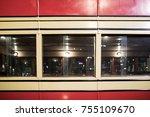 old vintage double decker red...   Shutterstock . vector #755109670
