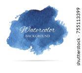 beautiful abstract blue... | Shutterstock .eps vector #755113399