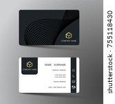 modern business card template...   Shutterstock .eps vector #755118430