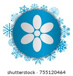 flower christmas icon | Shutterstock .eps vector #755120464