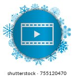film christmas icon | Shutterstock .eps vector #755120470