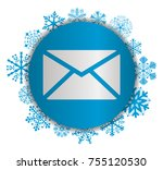 mail christmas icon | Shutterstock .eps vector #755120530