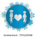 love chef christmas icon | Shutterstock .eps vector #755120548