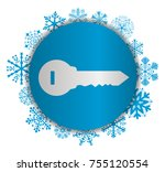 key house christmas icon | Shutterstock .eps vector #755120554