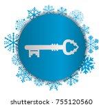 key christmas icon   Shutterstock .eps vector #755120560