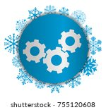gears christmas icon | Shutterstock .eps vector #755120608