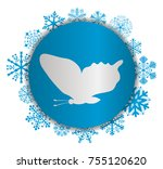 fly butterfly christmas icon | Shutterstock .eps vector #755120620