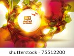 abstract colorful flovers... | Shutterstock .eps vector #75512200