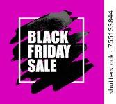 illustration of black friday... | Shutterstock . vector #755133844