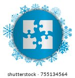 four pieces christmas icon | Shutterstock .eps vector #755134564