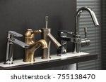plumbing various types of... | Shutterstock . vector #755138470