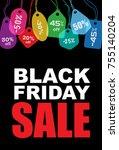 black friday  sale creative... | Shutterstock .eps vector #755140204