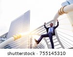 happiness businessman concept ...   Shutterstock . vector #755145310