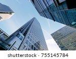 london office building... | Shutterstock . vector #755145784