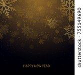 christmas and new year... | Shutterstock .eps vector #755149690