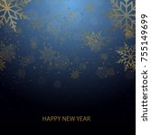 christmas and new year... | Shutterstock .eps vector #755149699