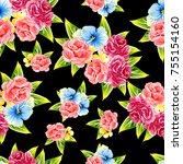 abstract elegance seamless... | Shutterstock .eps vector #755154160