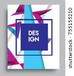 cover design template with...   Shutterstock .eps vector #755155210