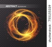 light effect line gold vector... | Shutterstock .eps vector #755155339