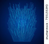 big data visualization. machine ... | Shutterstock .eps vector #755155393